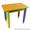 Детский столик без пенала 60см на 40см Карандаши #1604346