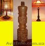 Основа для настольной лампы из красного дерева