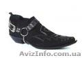 Замшевые Казаки Etor мужские туфли на кожаной подошве.Стиль.