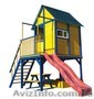 Детская площадка - домик с горкой