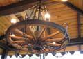 Люстра деревянная потолочная №2
